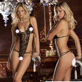 New arrive black women sexy lingerie hot erotic elasticity lace perspective nuisette sexy lenceria erotica mujer sexi very sexy