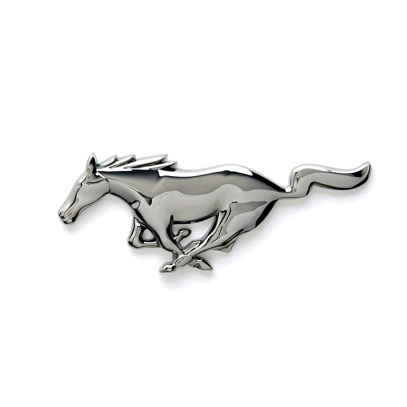 Metal Black Running Pony Horse Front Grille Grill Emblem Badge for Mustang USA