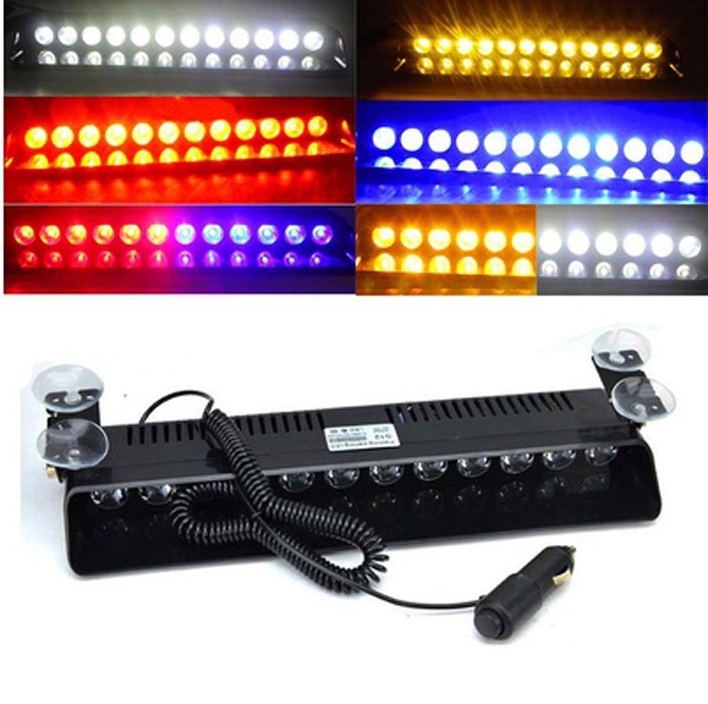 купить 12 Led Flash Boat Truck Car Flashing Warning Signal Emergency Windshield Police Strobe Light Lamp with Sucker Holder недорого