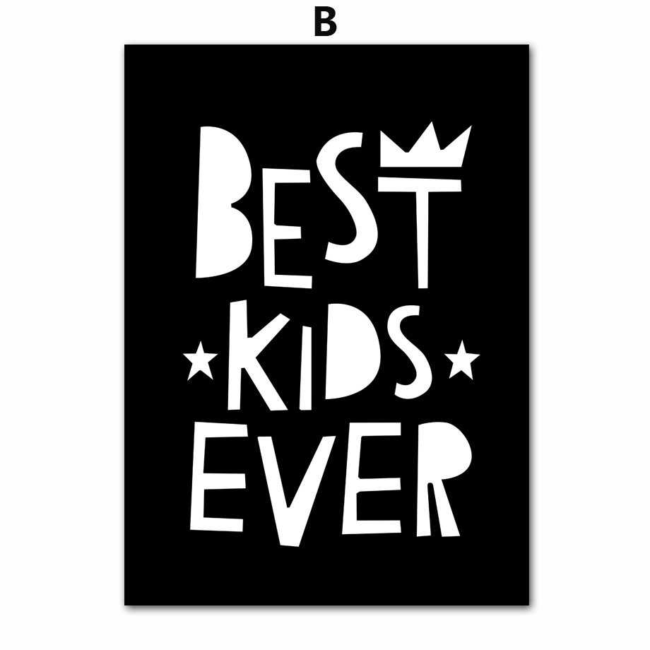 School Cartoon Motivational Quotes Nordic Posters And Prints Wall Art Canvas Painting Black White Pop Art Wall Pictures Kids Room Decorin Painting Calligraphy Aliexpresscom Cartoon Motivational Quotes Nordic Posters And Prints Wall Art