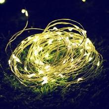 ФОТО soco solar copper wire garland string light 10/15m 100/150led romantic wedding party home christmas decoration fairy lighting