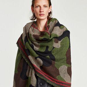 Image 4 - POBING Brand Winter Scarf Women Leopard Cashmere Scarves Wraps Basic Acrylic Wram Shawls Female Blanket Tassel Scarf Lady Stoles