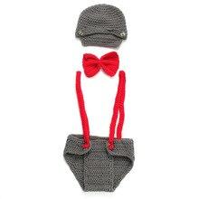 Шерсть шапочка с бантиком костюм комбинезон фотографии одежда Добро пожаловать домой подарок