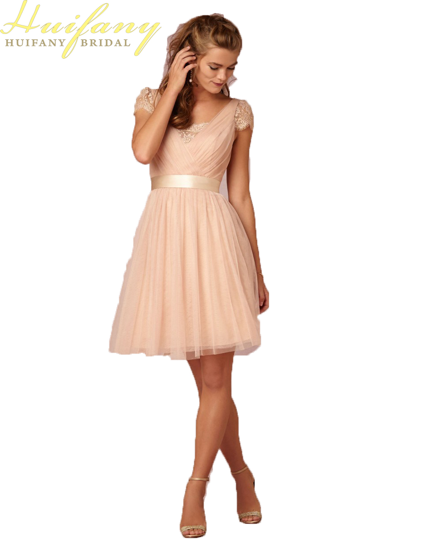 Cheap Bridesmaid Dresses Under 100 2018 New Arrival V Neck