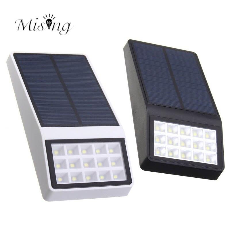 Mising Solar Power Motion Sensor Garden Yard Path Lights Outdoor Waterproof 15 LED Garden Lawn Wall Lamp