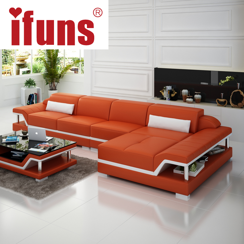 Popular l shape leather sofa buy cheap l shape leather for China sofa design