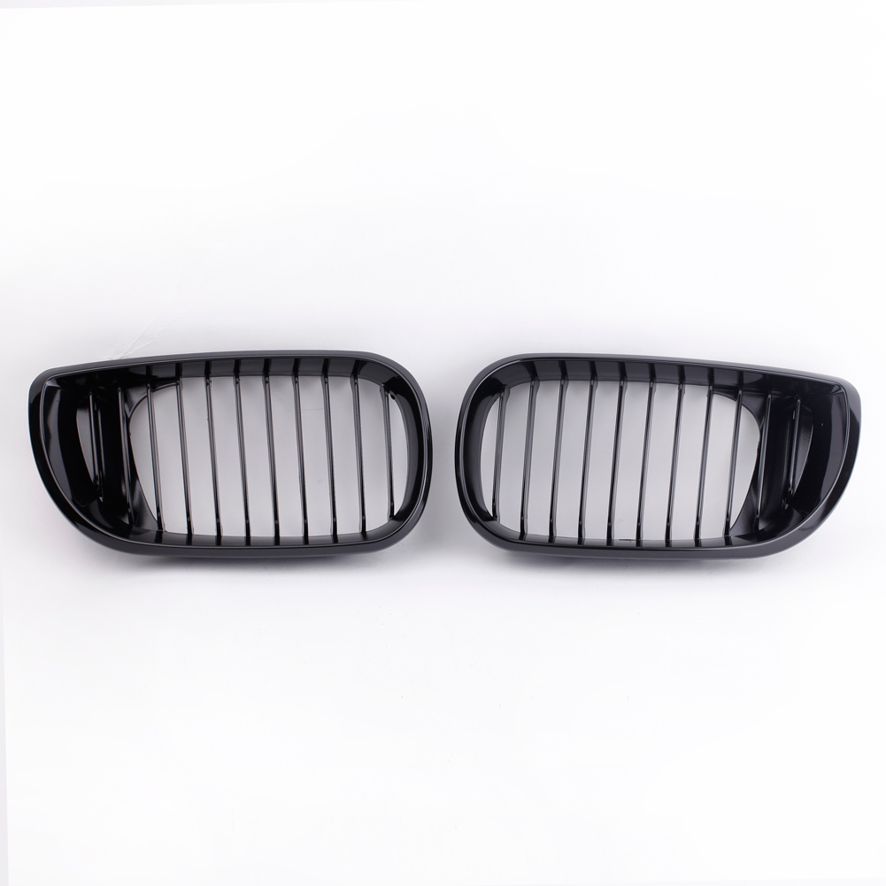 Car Accessories 2Pcs Car Front Grill Gloss Black Kidney Front Grille for BMW E46 3 Series 4 Door 2002 2005