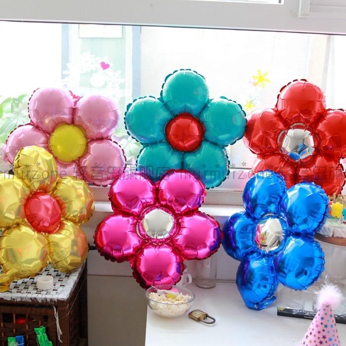5шт / лот 35см багатокольорові квіткові - Святкові та вечірні предмети