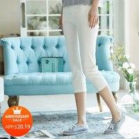 Yin 2017 Summer New Pure Cotton Seven Pants Pants Pants White Pants 1872093260