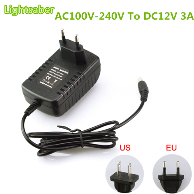 dc 12v 3a switch power supply 100v 240v ac power supply plug in 2 1