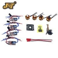 JMT RC QuadCopter UFO 4Axis Kit Hobbywing 10A ESC 2400KV Brushless Motor Straight Pin Flight Control