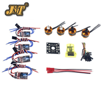 JMT RC QuadCopter UFO 4Axis Kit Hobbywing 10A ESC 2400KV Brushless Motor Straight Pin Flight Control