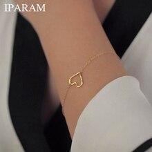 New Fashion Heart Bracelet, Delicate Simple Gold Bracelet Wo