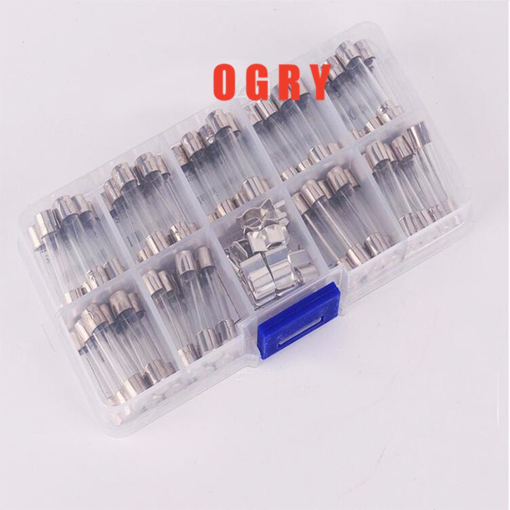 72Pcs/lot 6*30mm Quick Blow Glass Tube Fuse Assorted Kit Fast Blow Glass Fuses 250V (0.5A-30A) nz f 12 6x14 4x98 et35 d58 6 bkf