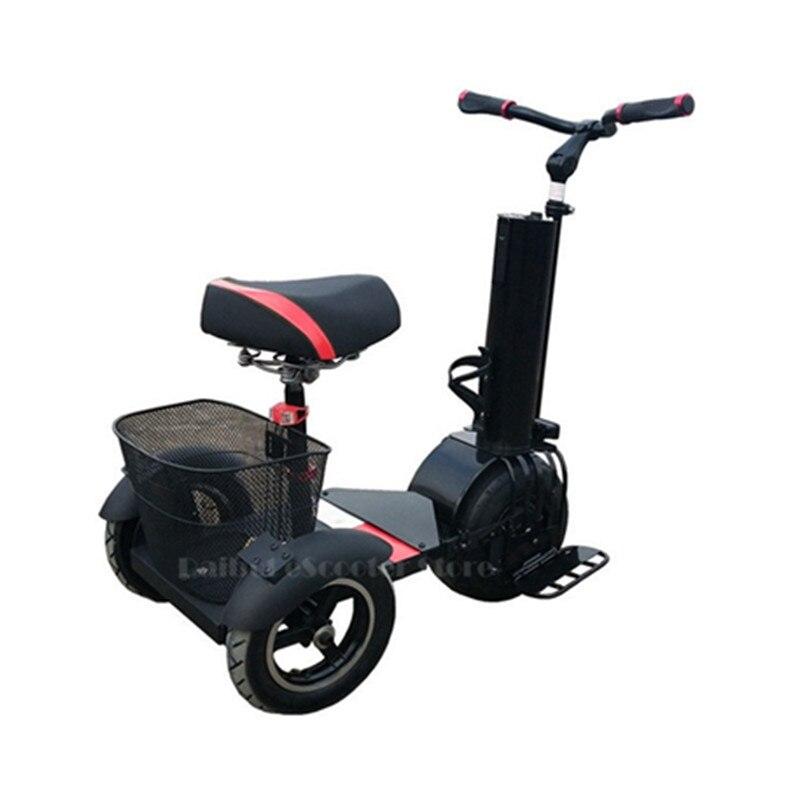 Daibot 3 roues Scooter électrique auto équilibrage Scooters 10 pouces 500W 60V une roue électrique monocycle Scooter pour adultes