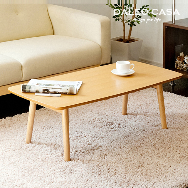Scandinavian Furniture Small Apartment Minimalist Retro Wood Folding Coffee Table Square A Few Tea Tables Rounded E