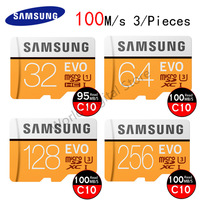 SAMSUNG Micro SD Card 32GB 64GB 128GB 256GB 100M S Class10 U1 Flash Memory Card TF