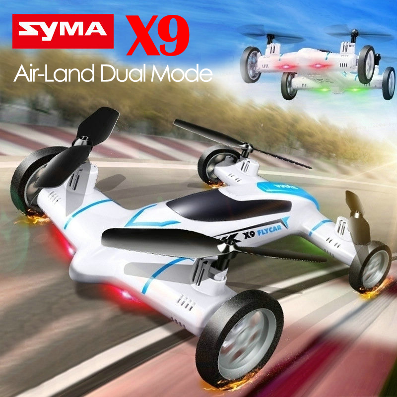 New Arrival Funny Syma X9 Mini Drone Air-Land Dual Mode RC Flying Car Quadcopter 2.4G 4CH 6-Axis Speed Switch