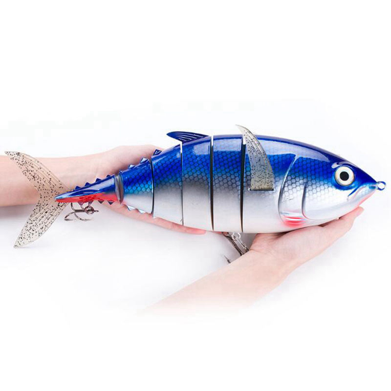 Pesca Mar 40cm 1027g Extra Large Artificial Fake Fishing Lure Multi Jointed Hard Bait Blue Yellow