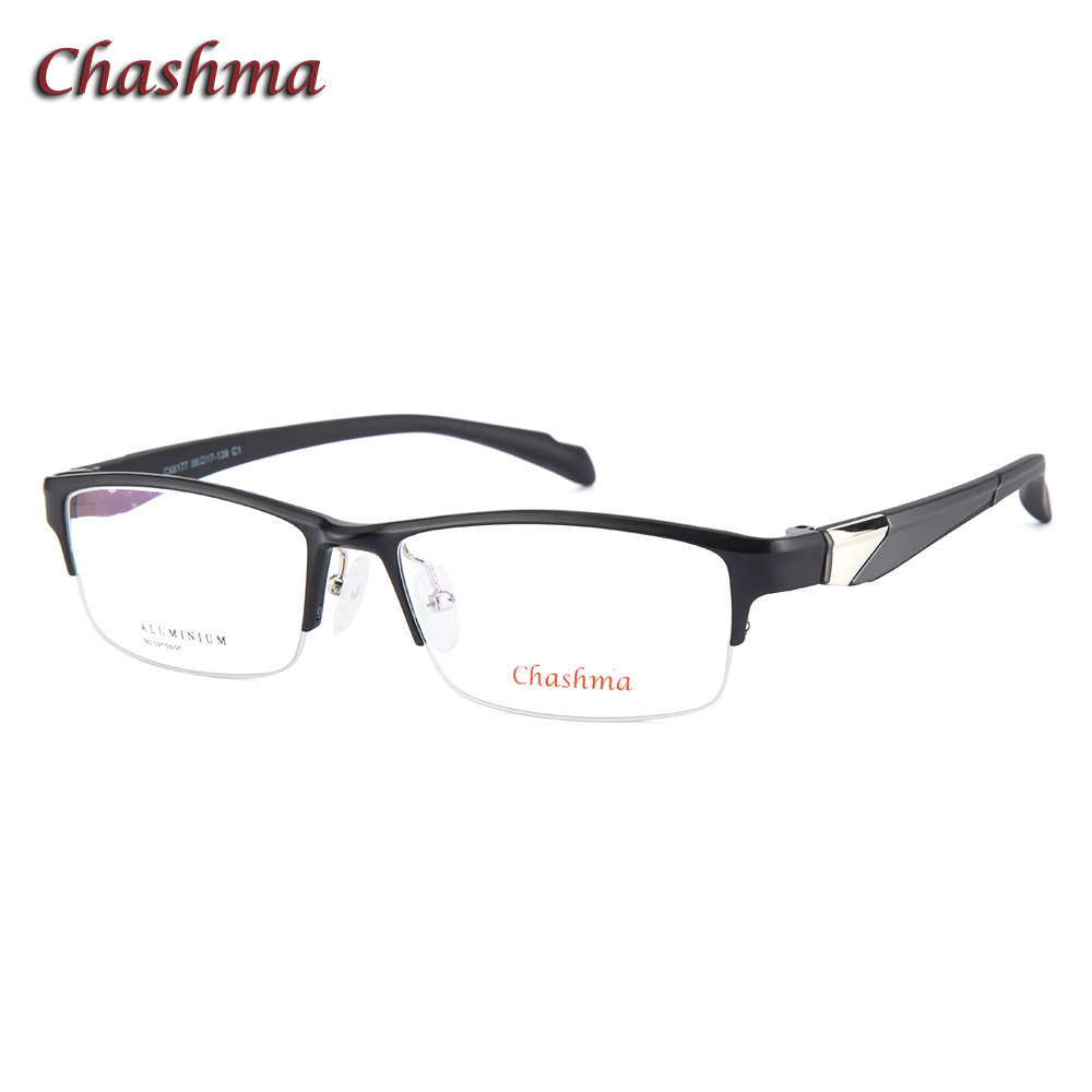 5151dec60e Chashma montura de gafas para hombre, gafas de calidad superior, gafas  deportivas, montura a la moda para hombre, gafas de medio marco elegantes para  hombre