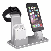 Holder for iwatch/iphone/ipad 4 in 1 AirPods Accessories Charging Dock Phone Stand For Apple Watch Series2/1 iPhoneX/8/8Plus/7/6