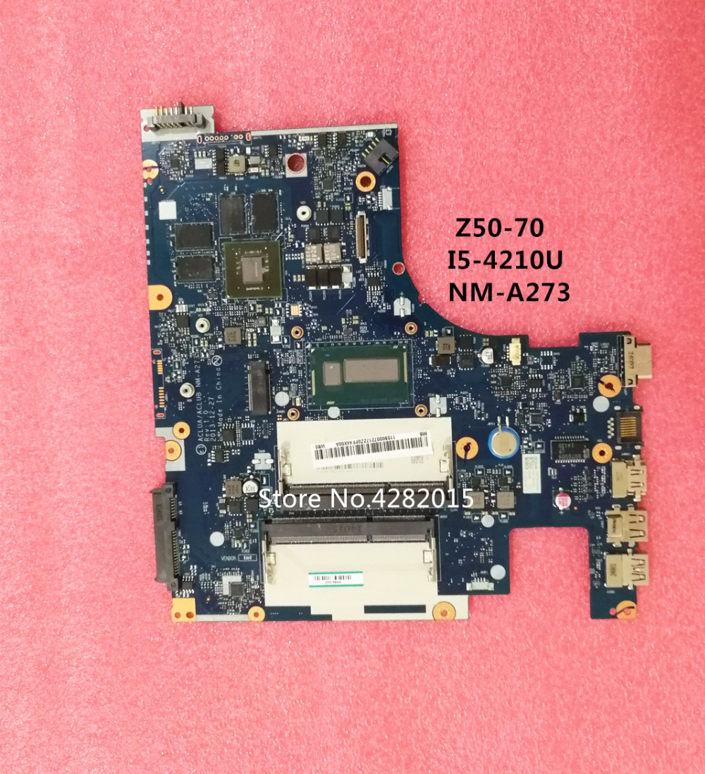 ACLUA ACLUB NM A273 Rev1 0 For Lenovo Z50 70 Laptop motherboard with I5 4210 CPU