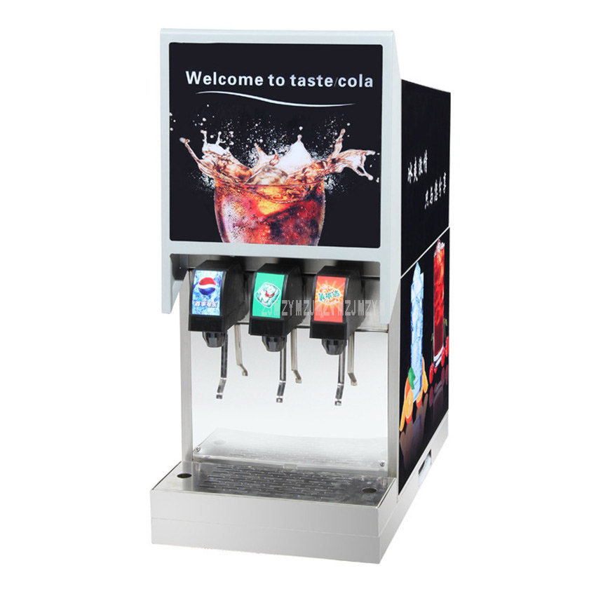 220V 0.45KW Commercial 3 Dispenser Cola Making Machine Automatic Electric Cold Cola Carbonated Drink Maker Machine IHKLJ-3B3