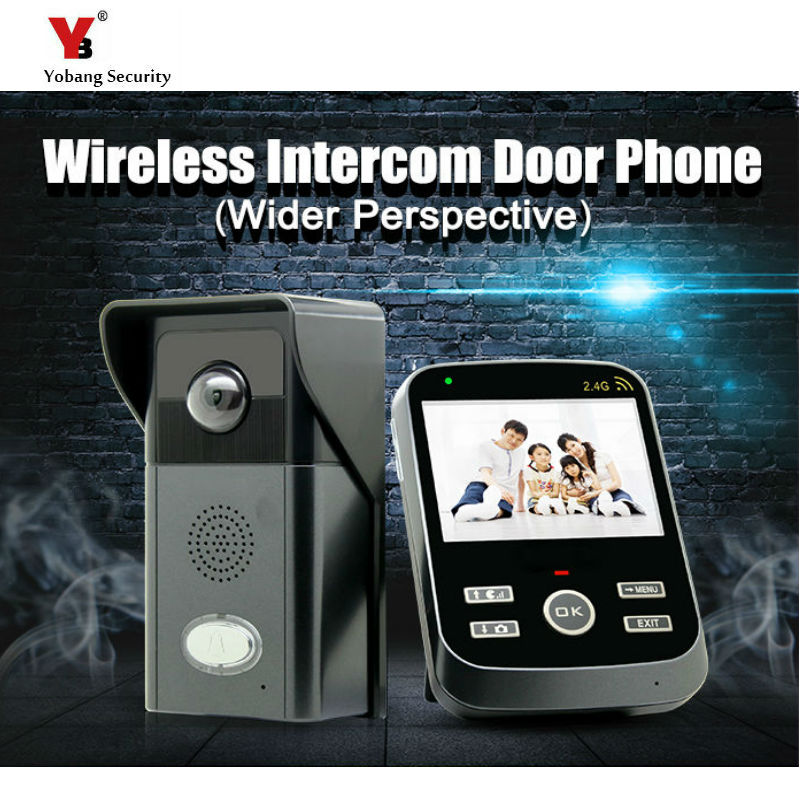 Yobang Security FreeShipping  3.5-Inch Indoor monitor Outdoor camera TFT Wireless Video Door Phone Video Intercom Home Doorbell freeshipping rs232 to zigbee wireless module 1 6km cc2530 chip