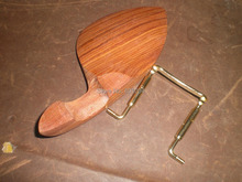 3 PCs Rose wood Violin Chin rest with  GOLD color chin rest screw all 4/4 without chin rest holes