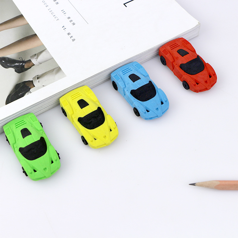 1 pc Novelty 3D small car rubber eraser kawaii creative stationery school office supplies gifts for kids boy toy