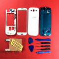 White Replacement Full Housing Cover Case + Screen Glass Lens+Door Back Battery Cover Case For Samsung Galaxy S3 T999 / i747