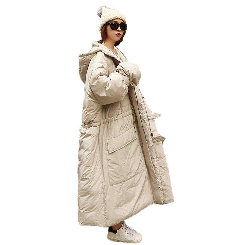 Oversize Coton Femmes Veste Chaud Beige Le À Lâche Jaqueta Manteau Bas  Hiver Noir Épais Capuchon ... c7753ec0ecf