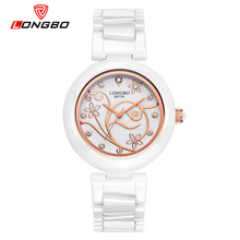 LONGBO Women Watches Fashion Casual Quartz Ceramic Watches Wristwatch Women With Crystals Girl Dress clock Lady relojes mujer