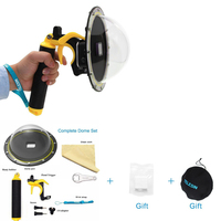 Go pro Dome Port Cover Lens Hood Waterproof Case Housing Trigger Grip Dome for GoPro Hero 7/6/5/4/3 3+ Photography Accessories