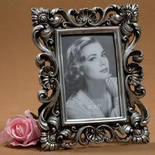 4 ×6 Inch DIY Photo Vintage European Style Metal Flower Photo Frame Decorative Picture Frame On Table Wedding Home Decor