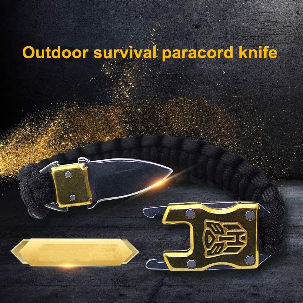 Открытый выживания Мультифункциональный EDC тактический 7 Core парашют выживания веревку браслет с пакет Ножи самообороны paracord