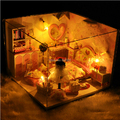 Diy куклы деревянный дом миниатюрный 3D ручной сборки модели кукольный домик деревянная игрушка игрушки творческий подарок на день рождения - сладких снов