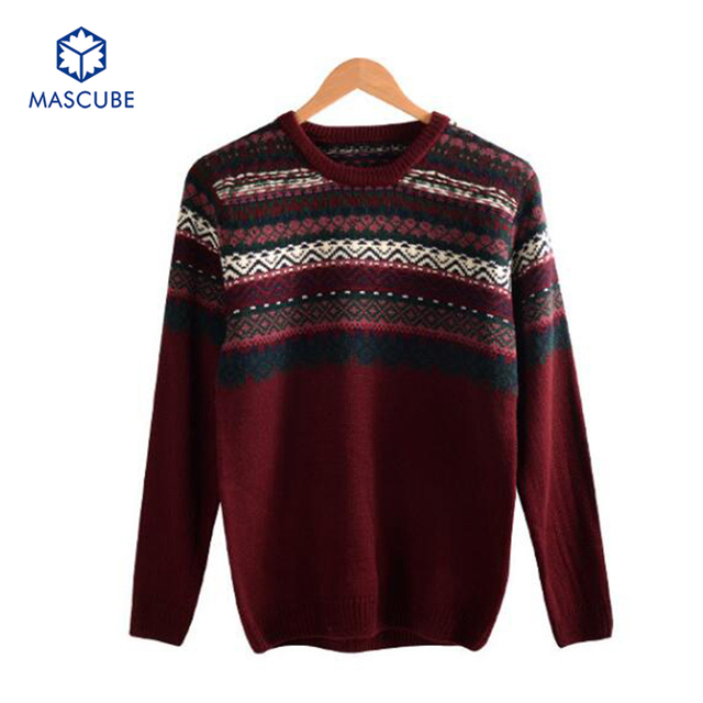New Fashion Winter Men Sweater Thick O-neck Solid Design Soft Warm Top Quality Cloth Printed Slim Pullover Turtleneck Size M-2XL