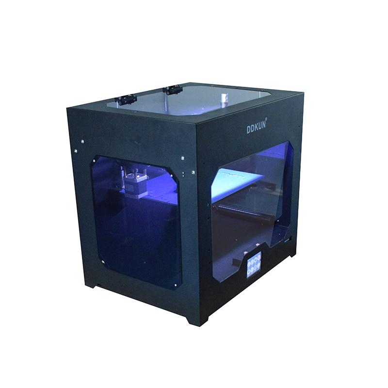Double buse Extrusion bureau écran tactile Quadro vitesse éducation école métal Imprimante en aluminium Hotbed 3D Machine d'impression