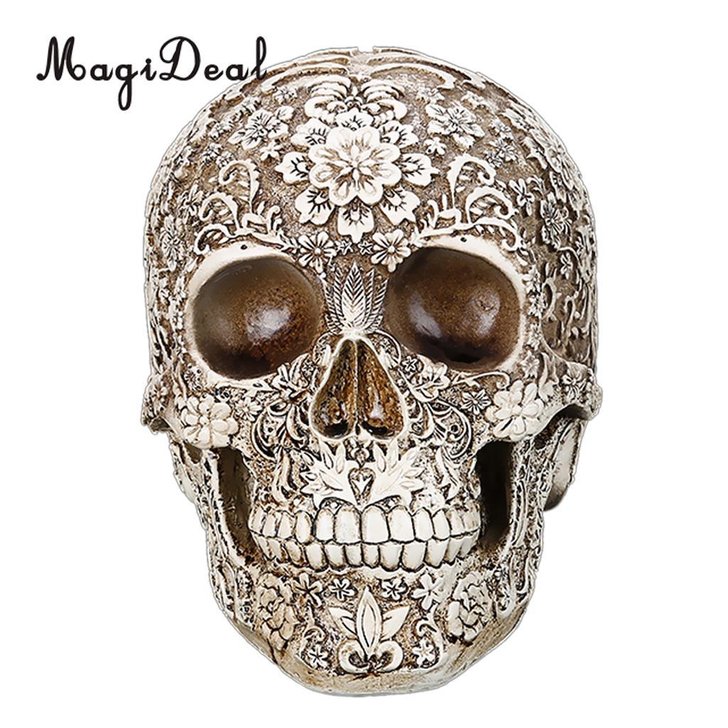 MagiDeal Lifesize Replik Carving Modell Schädel-figur Menschlichen Kopf Medizinische Skeleton-Kreative Wohnkultur Geschenk