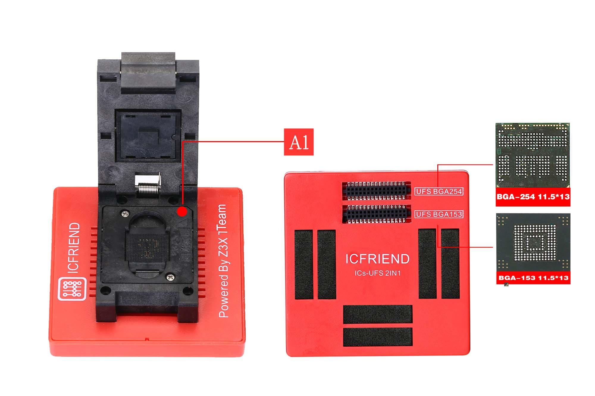 UFS adapters socket ICFriend ICs-UFS Bga 95 work for easy-jtag plus boxUFS adapters socket ICFriend ICs-UFS Bga 95 work for easy-jtag plus box