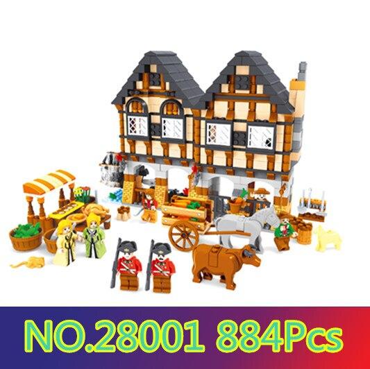 Model building kits compatible with lego city vegetable market 3D blocks Educational model building toys hobbies for children