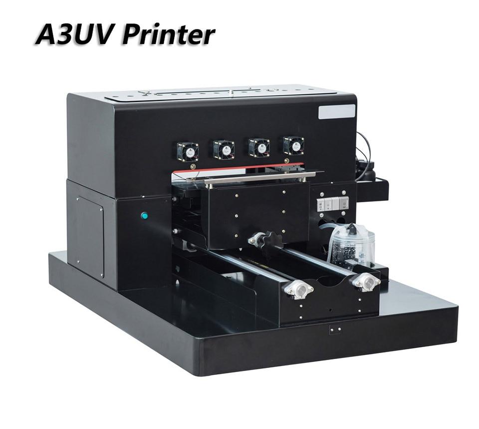 Stampante UV LED A3 di alta qualità Flatbed 6 colori Sistema di aria - Elettronica per ufficio