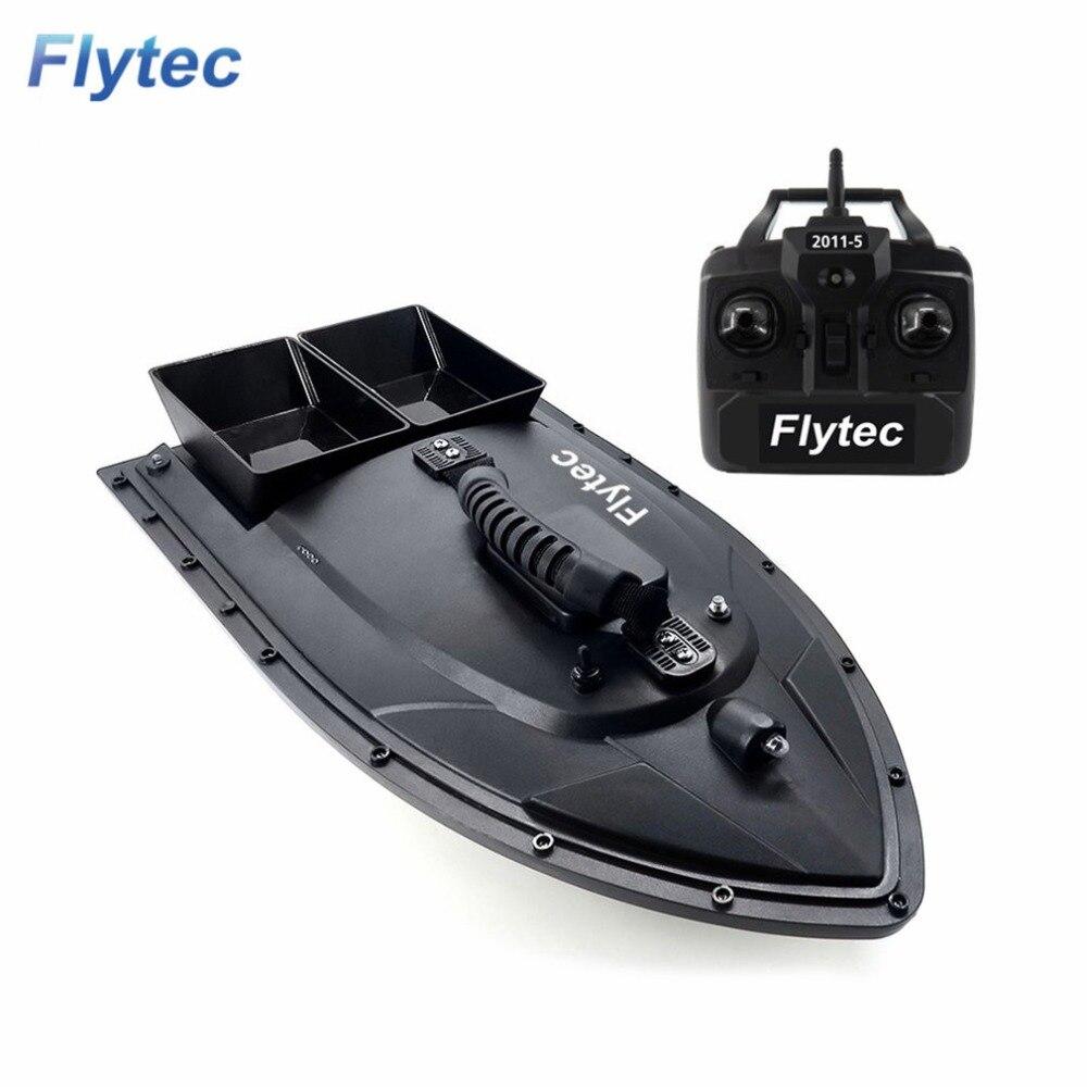 Flytec 2011-5 Strumento di Pesca Intelligente RC Bait Boat Giocattolo Doppio Motore Fish Finder di Pesce Barca Telecomando barca Da Pesca modello di Nave della barca Barca hi