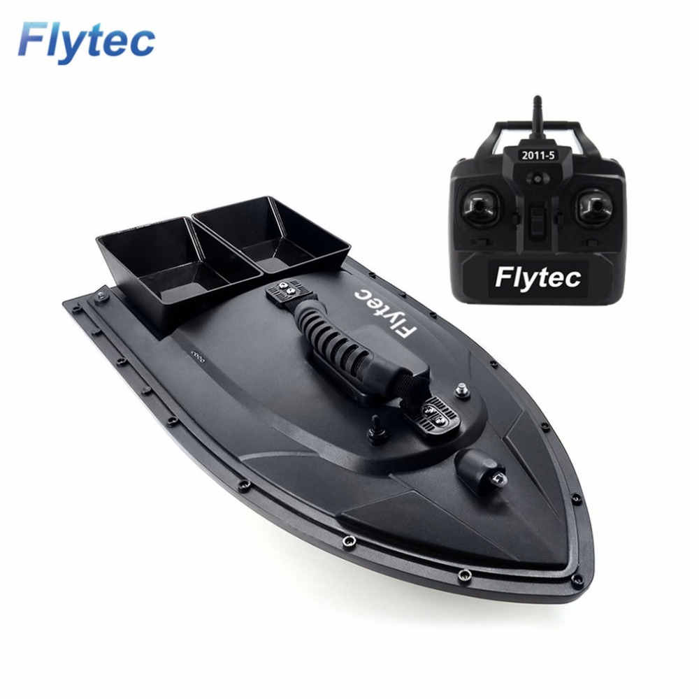 Flytec 2011-5 herramienta de pesca inteligente RC cebo barco juguete doble Motor buscador de peces pesca barco Control remoto pesca barco barco hi