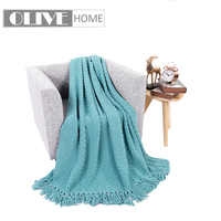 Battilo Boon Knitted Tweed Throw Couch Cover Blanket