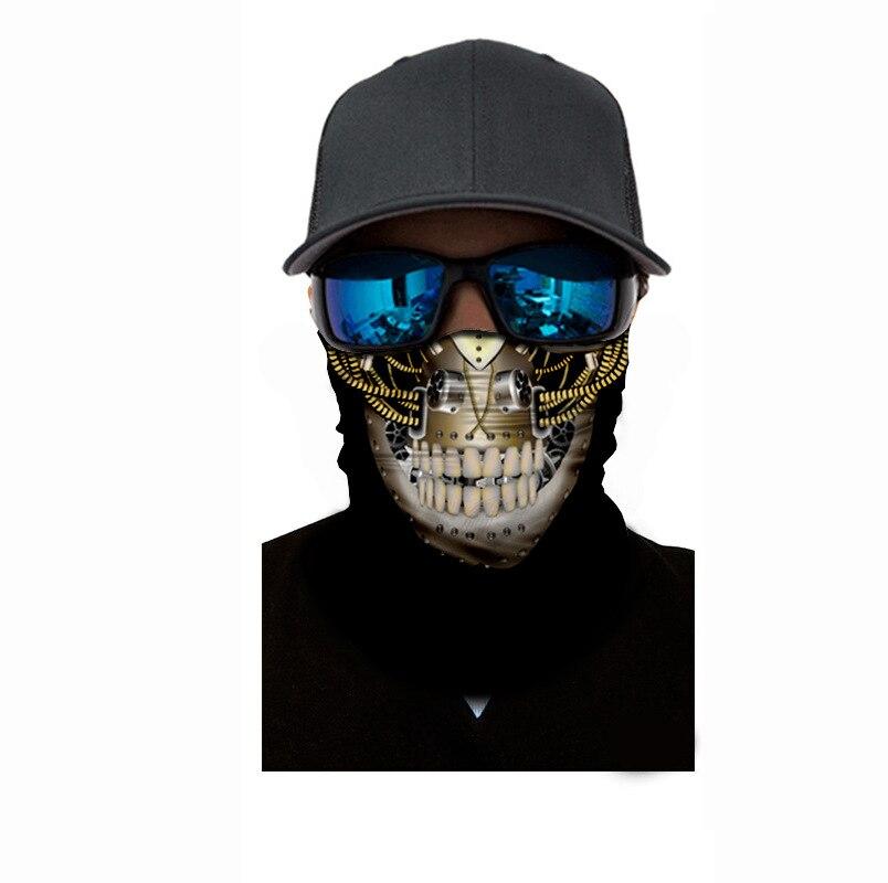 Personality Chain skull Skeleton Seamless Magic Headband Bandana Army Tube Neck military Face Mask Bicycle Head Scarf Headwear