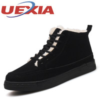 Winter Men S Shoes Lace Up Leisure Style Anti Slippery Flats Shoes Plush Warm Shoes Outdoor