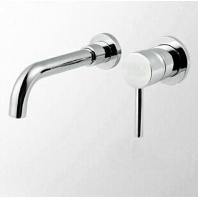 fashion chrome brass single lever hot and cold in-wall sink faucet bathroom basin faucet,tap mixer