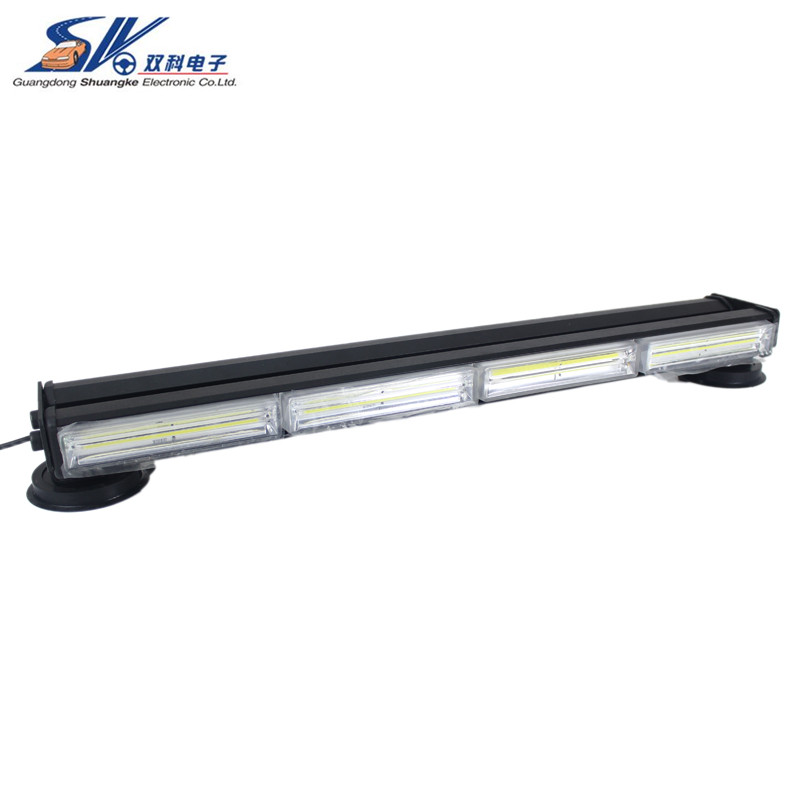 24 120W double side brightest COB LED Warning Auto Emergency Strobe Flashing Warning Car Roof Police Road Safety Light bar ...